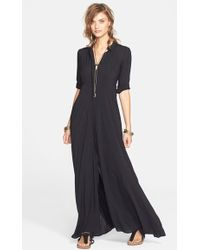 Free People 'After The Storm' Shirtdress black - Lyst