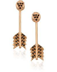 Pamela Love Rose Gold Shooting Arrow Earrings - Lyst