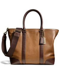 Coach Bleecker Business Tote in Harness Leather - Lyst