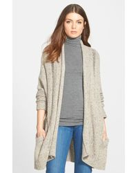 Rebecca Minkoff 'sonic' Oversize Open Cardigan - Natural