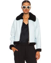 3.1 Phillip Lim Off The Wall Dolman Shearling Aviator Bomber - Lyst