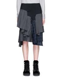 Facetasm - 'bontage' Variegated Tiered Pleat Skirt - Lyst