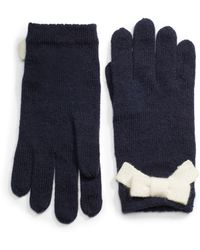 Kate Spade Tech-friendly Gloves with Bow Accent - Lyst