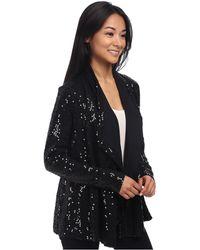 Karen Kane Sweater Knit Sequin Cardigan - Lyst