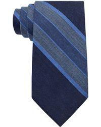 Calvin Klein Silk Blend Stripe Tie - Lyst