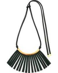 Marni Fringed Leather Necklace - For Women - Lyst