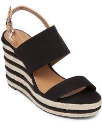 Vince Camuto Simonas Studded Wedge Sandals In Black Lyst