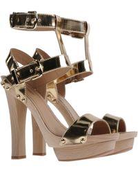 DSquared² Block High-Heel Platform Sandals - Lyst