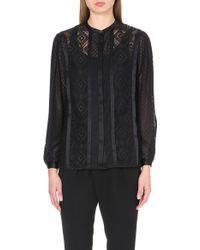 Temperley London Satin-trim Lace Shirt - Lyst