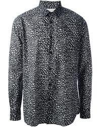 Saint Laurent Animal Print Shirt - Lyst