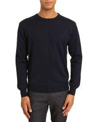 Menlook Label Tim Navy Sweater - Lyst