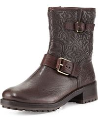 Tory Burch Chrystie Trapunto-stitched Ankle Boot - Lyst