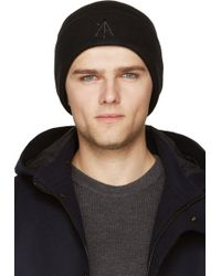 Surface To Air Black Embroidered Logo Tyco Beanie - Lyst