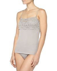 Hanro Luxury Moments Wide Lace Camisole - Lyst