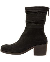 Haider Ackermann Black Suede Zipper Boots - Lyst