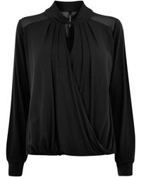 Karen Millen   Draped Shirt   Lyst