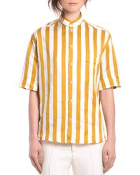 Bally Multi Ocre Striped Short Sleeve Shirt - Lyst