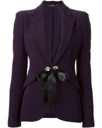 Alexander McQueen Tie Front Jacket - Lyst