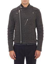 Sacai Houndstooth Moto Jacket - Lyst
