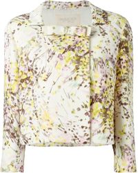 Giambattista Valli Floral Print Cropped Jacket multicolor - Lyst