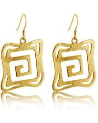 Belcho - Square Geometric Maze Earrings - Lyst