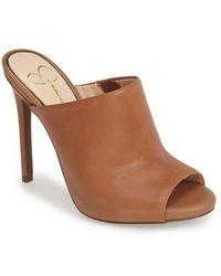 Jessica Simpson 'Rian' Mule brown - Lyst