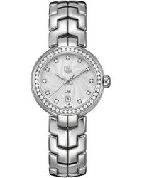 Tag Heuer Ladies Link Stainless Steel Diamond Bezel Watch