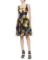 Milly Natalie Pop Art Floral Cocktail Dress - Lyst