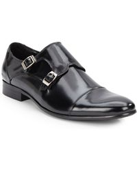 Kenneth Cole Reaction - New-Est Cd Leather Monk-Strap Shoes - Lyst