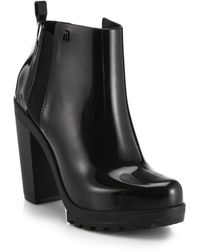 Melissa Soldier Ankle Boots - Lyst