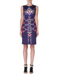 Mary Katrantzou Printed Silk Dress Multi - Lyst