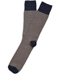 American Trench - 'houndstooth' Mercerized Pima Cotton Blend Socks - Lyst