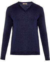 Bottega Veneta V-Neck Merino Wool Sweater - Lyst