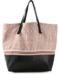 Forte Forte Bouclé Panelled Tote - Lyst