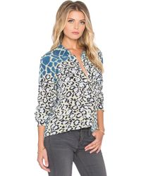 Equipment Slim Signature Engineered Cape Town Collage Print Button Up - Lyst
