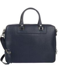 Barneys New York - Saffiano Briefcase - Lyst