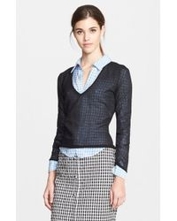 Altuzarra 'Zilio' Sheer V-Neck Sweater - Lyst
