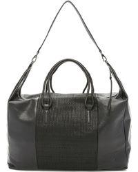 Christopher Kon - Micro Weave Weekender Bag - Black - Lyst