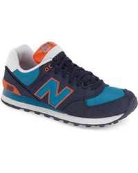 New Balance | blue 574 Winter Harbor Suede Low-Top Sneakers | Lyst