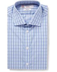 Turnbull & Asser Slimfit Microcheck Cotton Shirt - Lyst