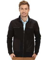 Calvin Klein Long Sleeve Full Zip Solid Sweatshirt - Lyst