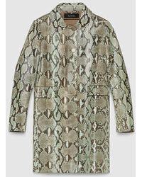 Gucci Python Coat - Green