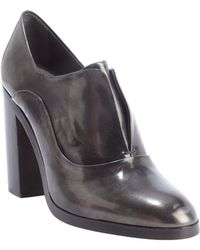 Reed Krakoff Black and Charcoal Shined Leather Oxford Pumps - Lyst