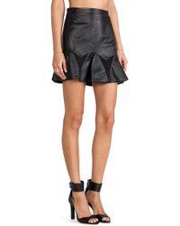 LaPina by David Helwani - Audrey Leather Skirt - Lyst
