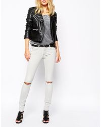 SuperTrash - Upertrash Paradise Skinny Jeans With Ripped Knees - Lyst
