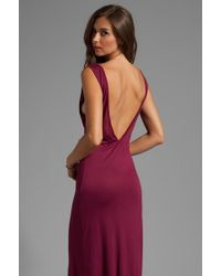 Gypsy Junkies Everyday Backless Tank Maxi Dress in Wine - Red