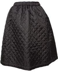 Comme Des Garçons Quilted Drawstring Waist Skirt Black - Lyst