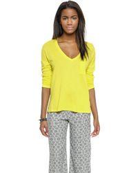 Splendid Very Light Pullover - Lemon - Lyst