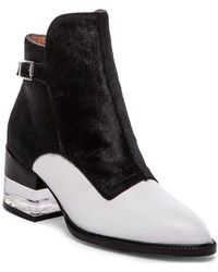 Jeffrey Campbell Leto Bootie With Cow Hair - Lyst