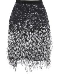 Matthew Williamson Embellished Stretchtwill Mini Skirt - Lyst
